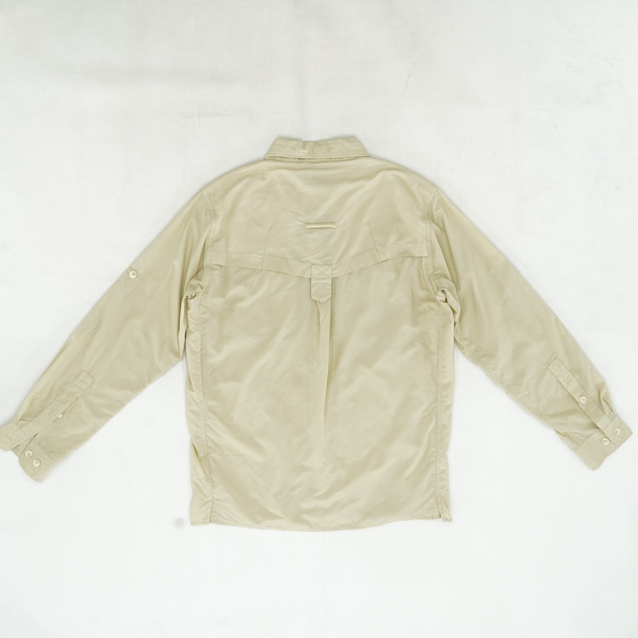 Khaki Air-Strip Button Down