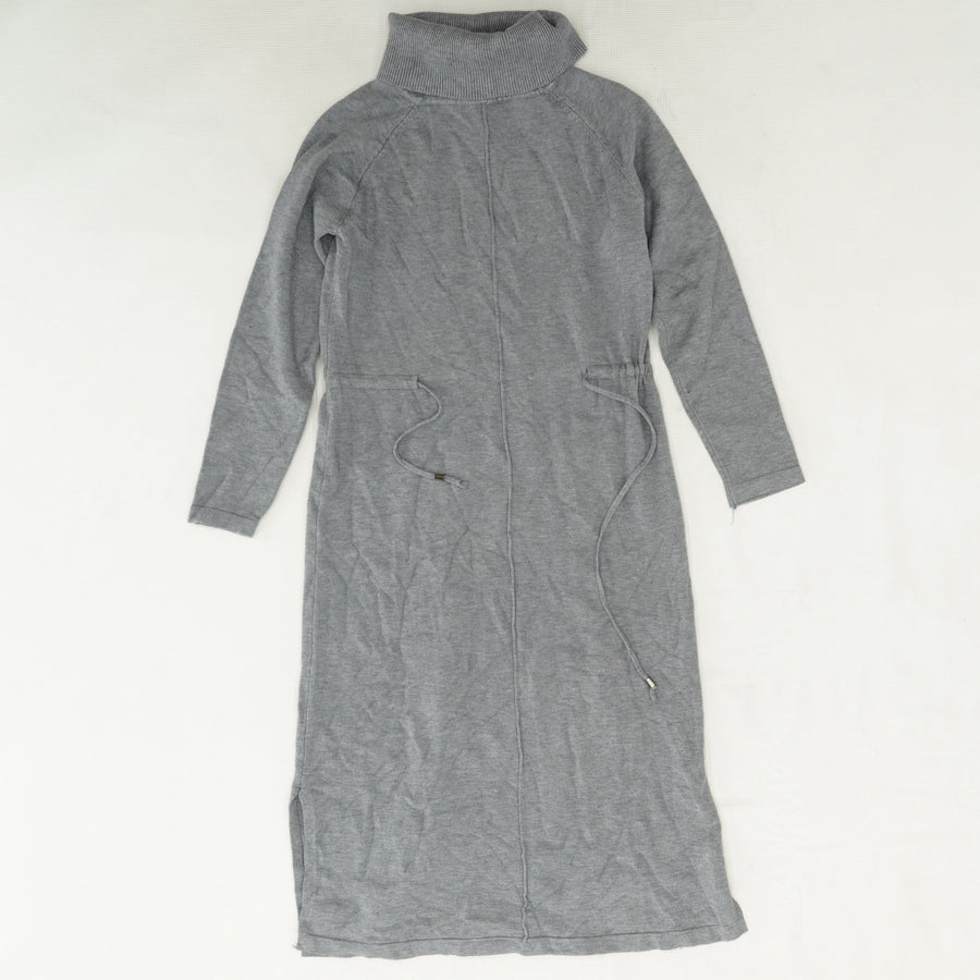 Funnel Neck Drawstring Waist Sweater Dress Size S/M