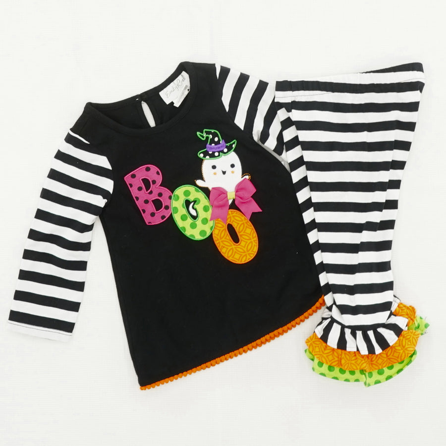 "2PC Halloween ""Boo"" Outfit Size 18 Months"