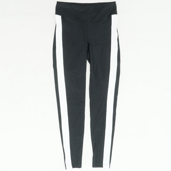 Black Legging With White Side Stripe Detail Size L