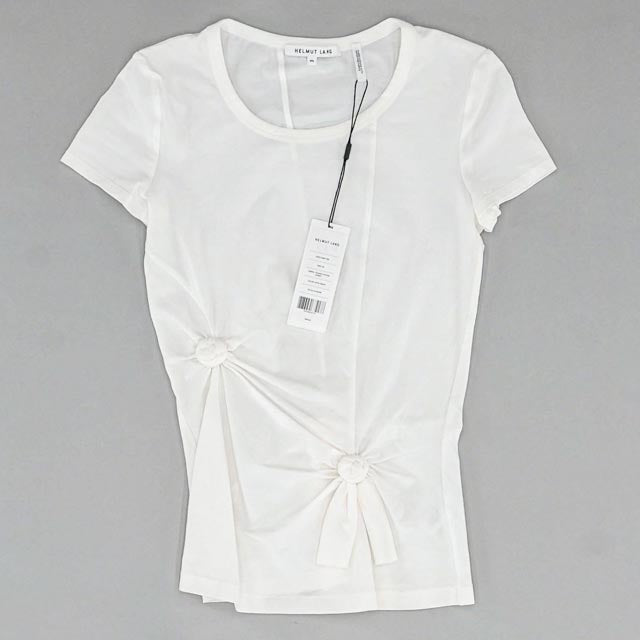 Helmut Lang Optic White Knot Baby Tee Size XS