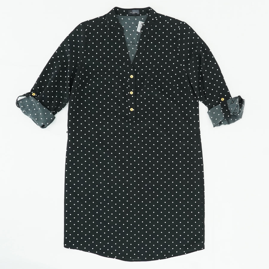 Polka Dot Button Down Dress Size M