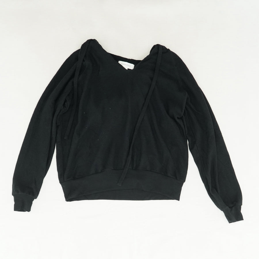Hooded V-Neck Sweater Size XS