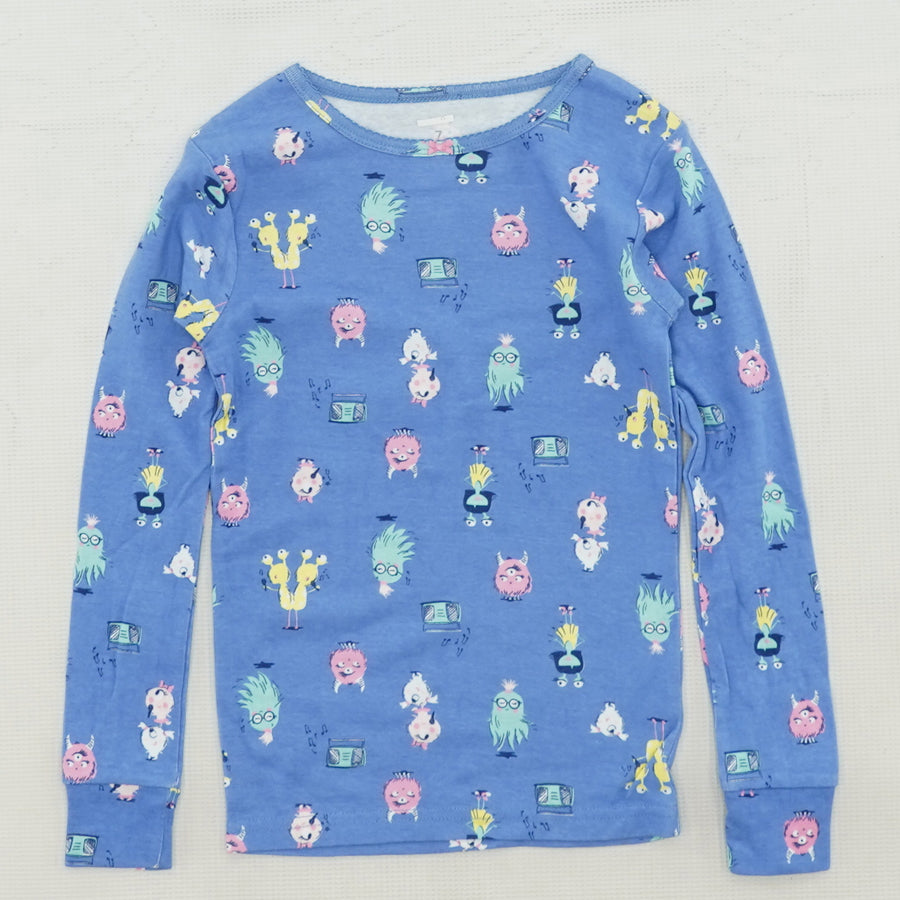 Musical Monster Pajama Top Size 7