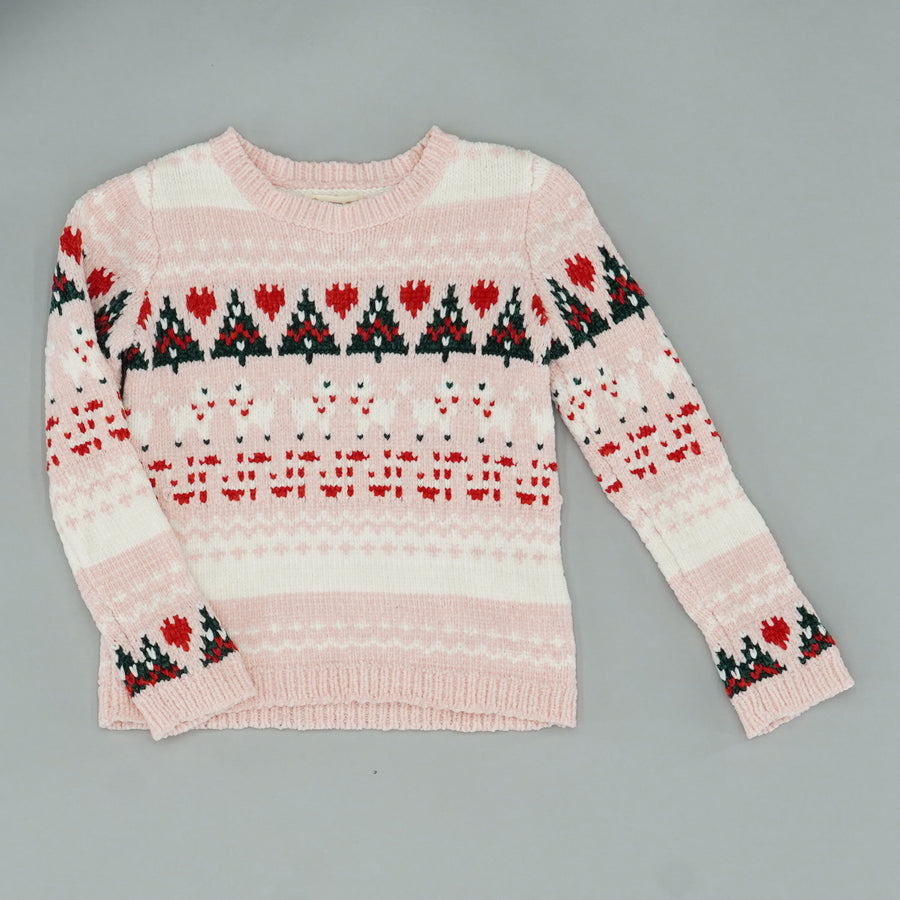 Striped Knit Christmas Sweater Size 6