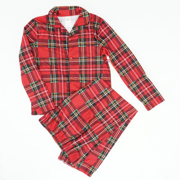 Plaid Two Piece Pajama Set Size XL