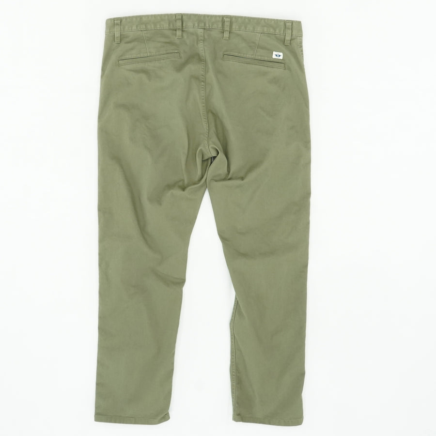 Alpha Khaki Chinos Slim Fit Pants Size 38W 30L