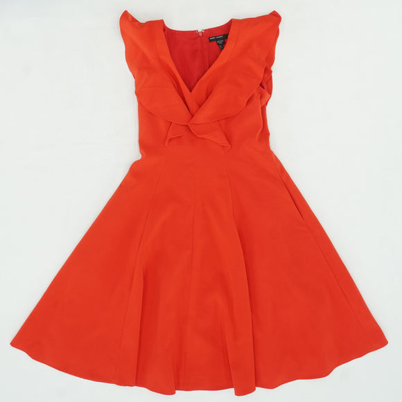 Candy Apple Ruffle Neck Dress Size 2
