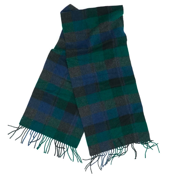 Cashmere Plaid Muffler Neck Scarf
