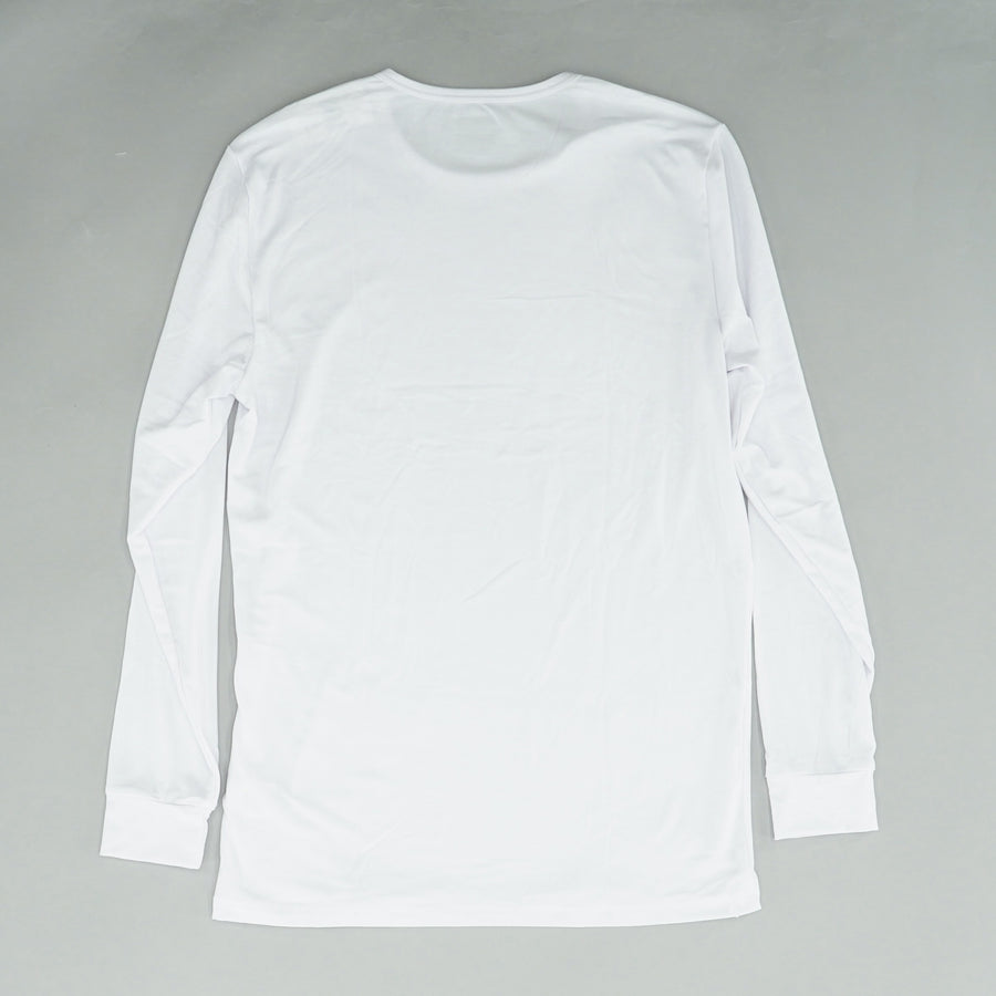 Plain White Crew Neck Casual Under Tee Size M