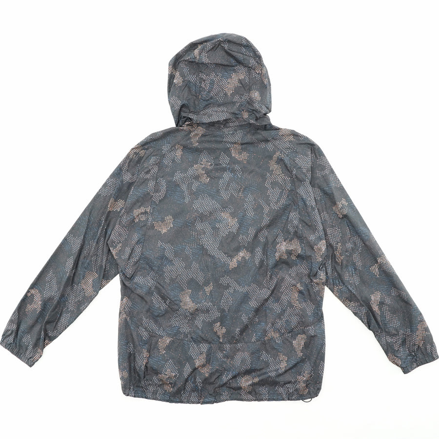 Printed Windbreaker with Hood - Size M