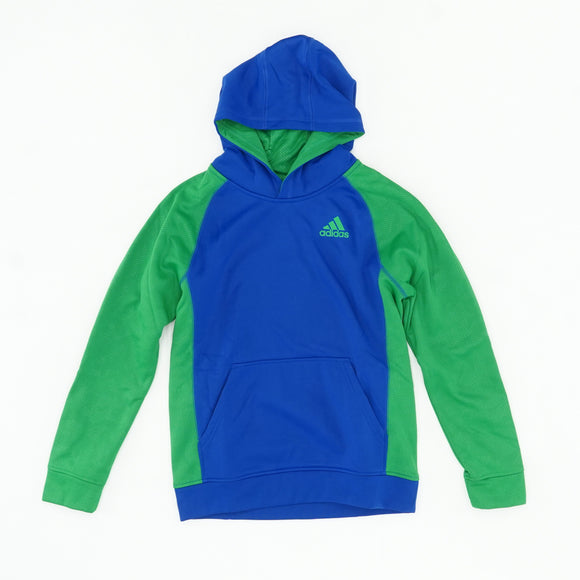 Green And Blue Pullover Hoodie Size L