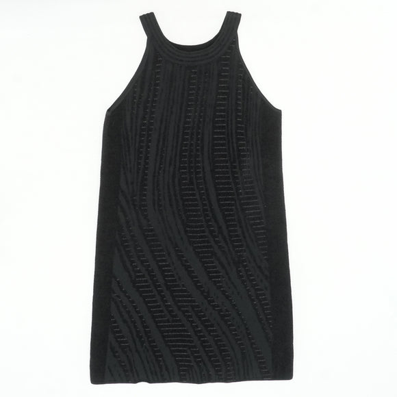 Black Knit Sleeveless Dress Size L