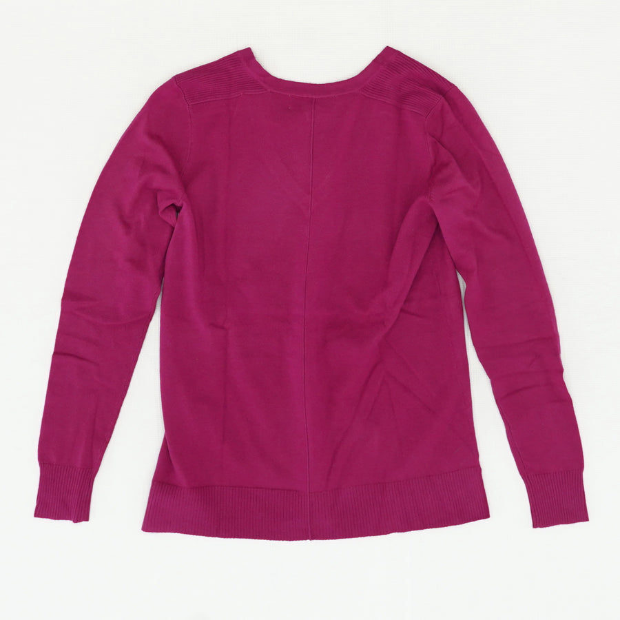 Seam Front Pullover In Magenta