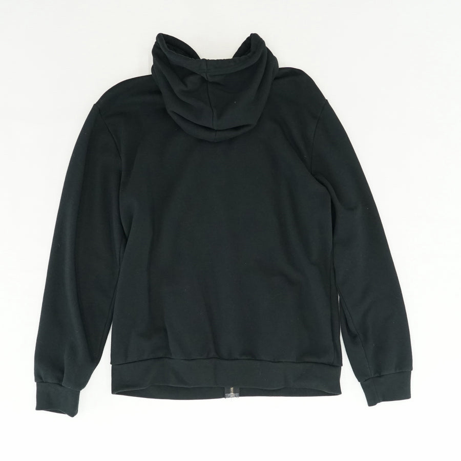 Black Zip Up Hoodie Size L