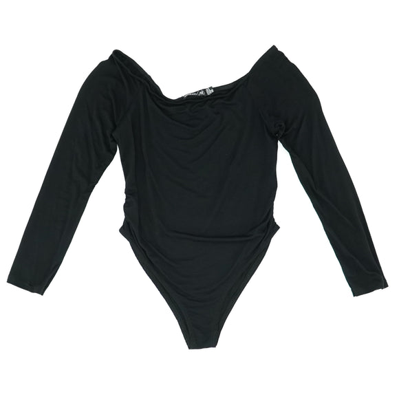 Black Maternity Bardot Long Sleeve Bodysuit Size 4