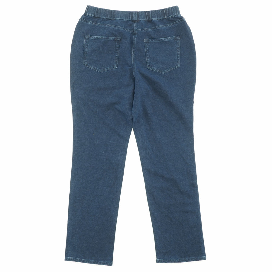 Straight Leg Pull-On Jeans Size M