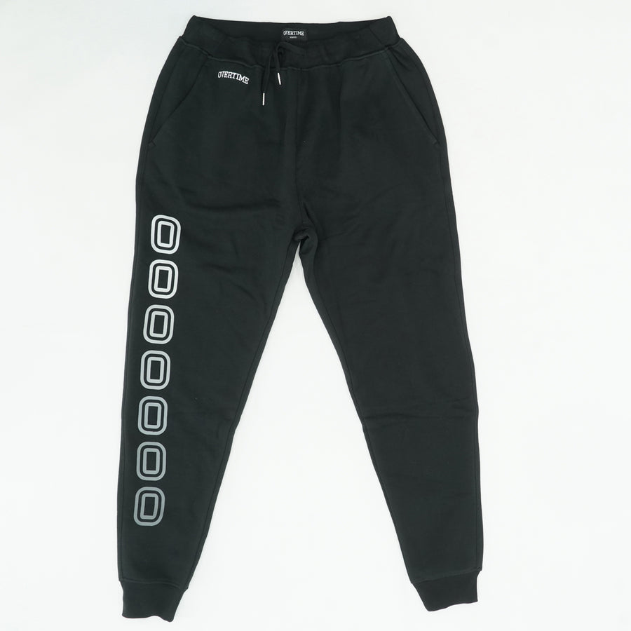Black Solid Joggers Size XL
