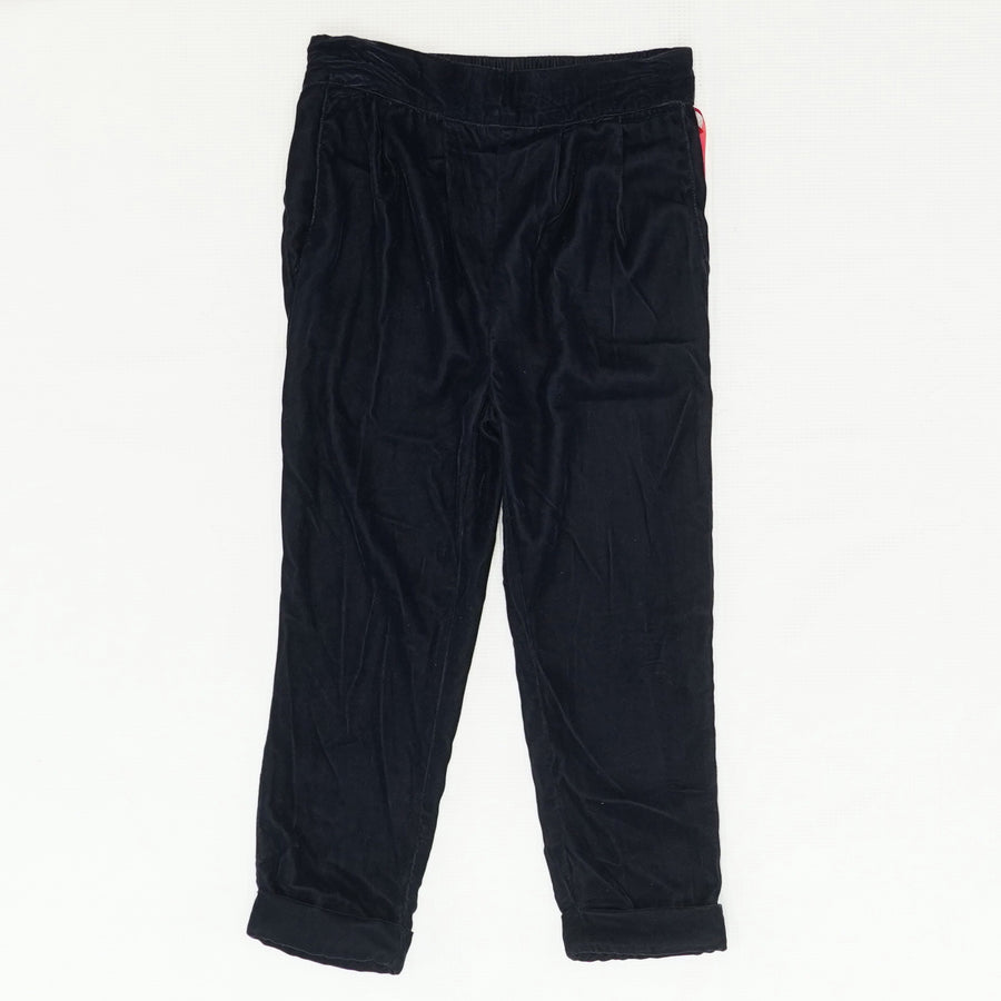 Navy Velvet Pants Size 5