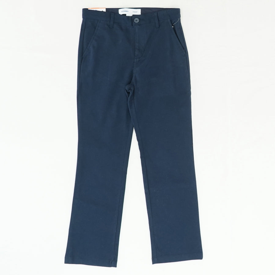 Navy Straight Pant Size 10