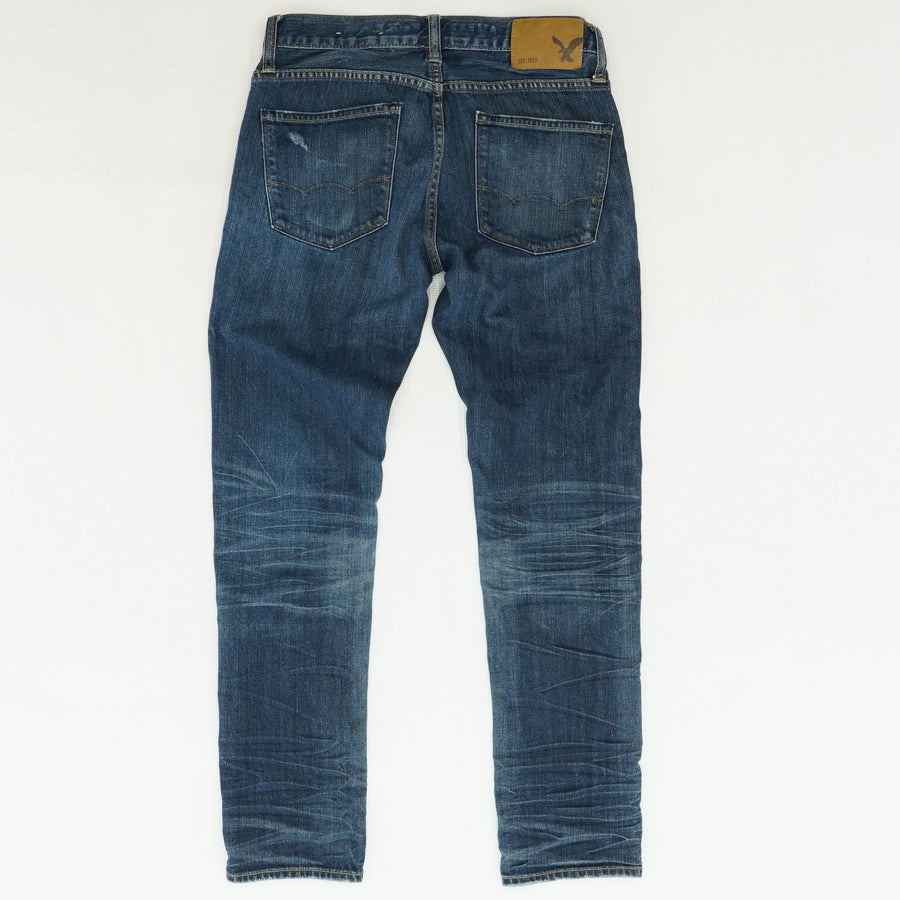 Skinny Fit Dark-Washed Jeans Size 28W 30L