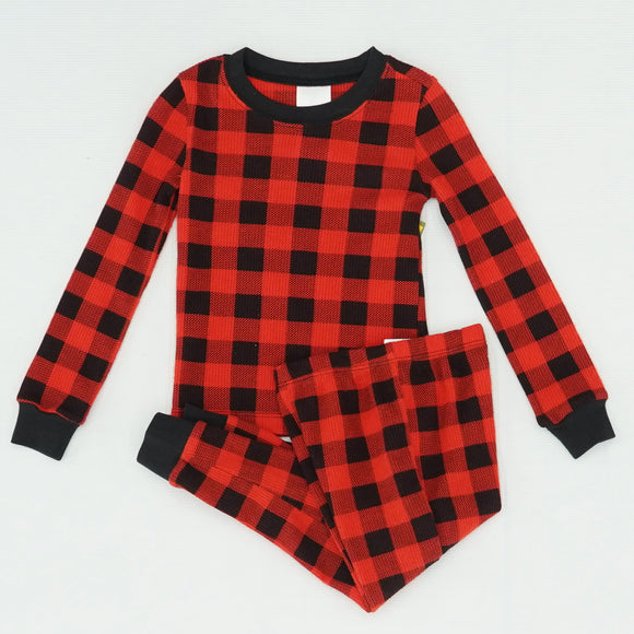 Thermal Buffalo Plaid Pajama Set Size 3