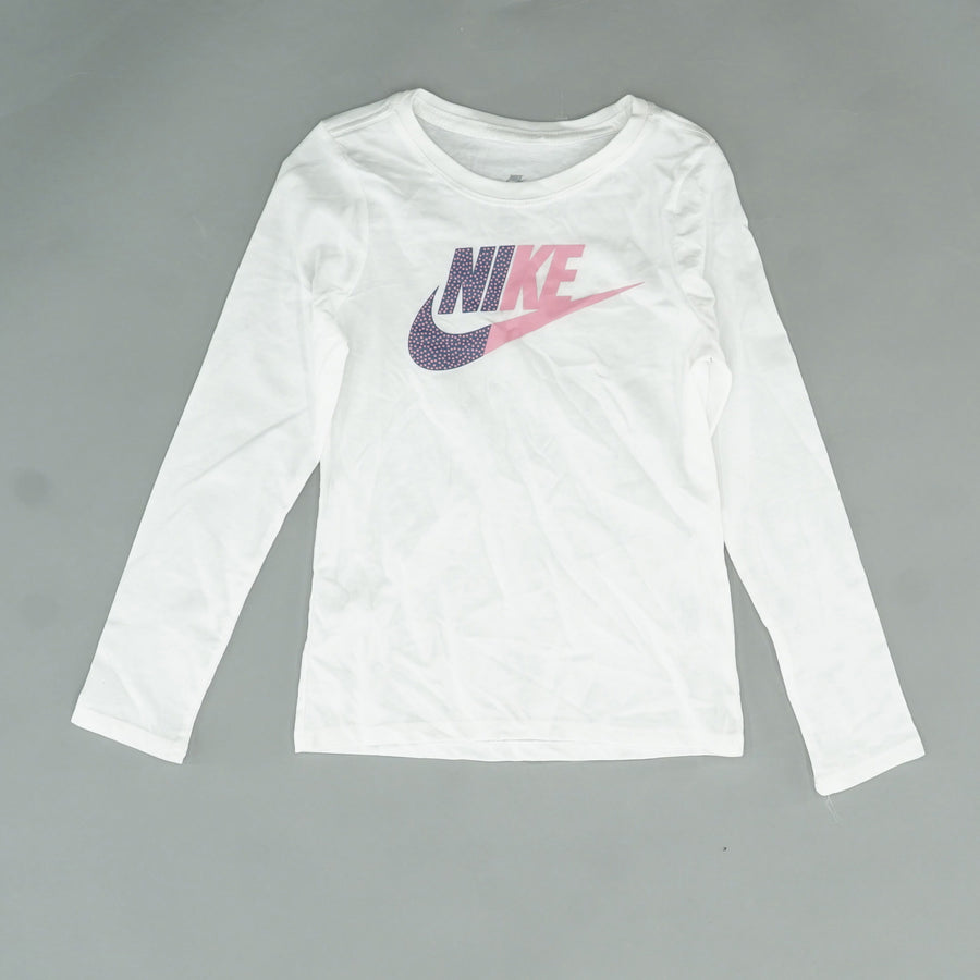 Pink/White Graphic Logo Shirt