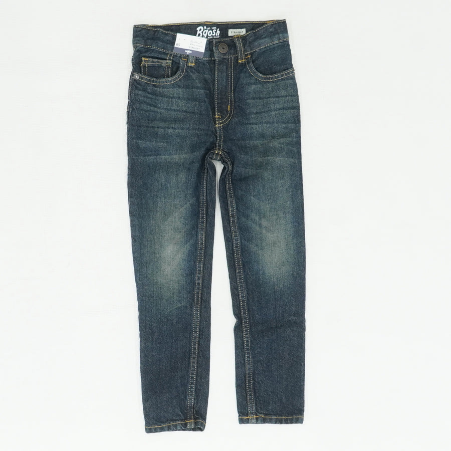 Denim Washed Straight Jeans Size 6S