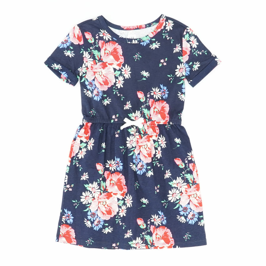 Floral Knit Dress with Drawstring Waist Size S