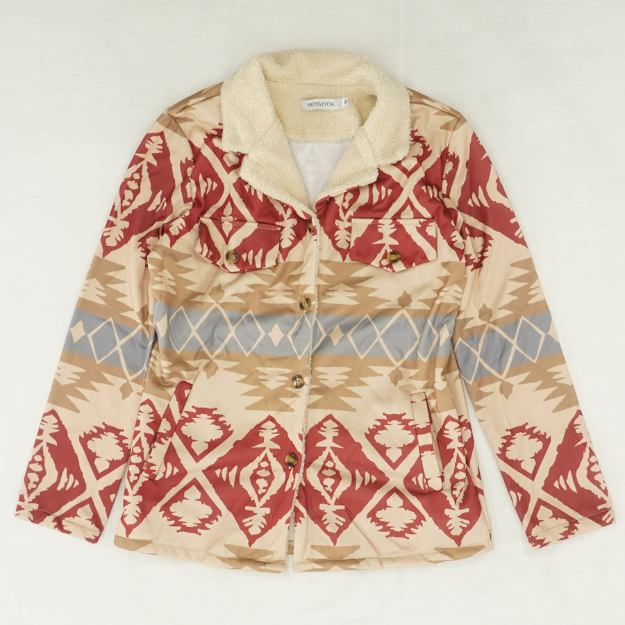Native Pattern Sweater Size M