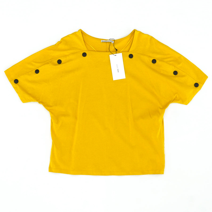 Mustard Yellow Casual Top Size S