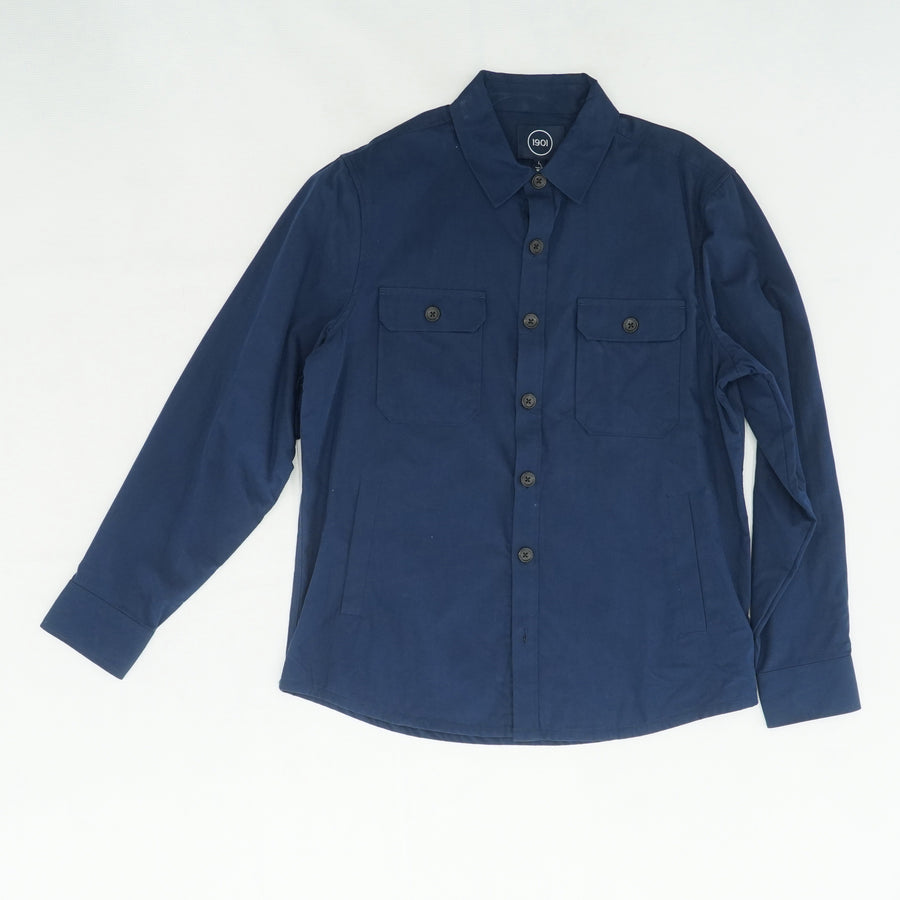 Navy Ripstop Shirt Jacket Size L