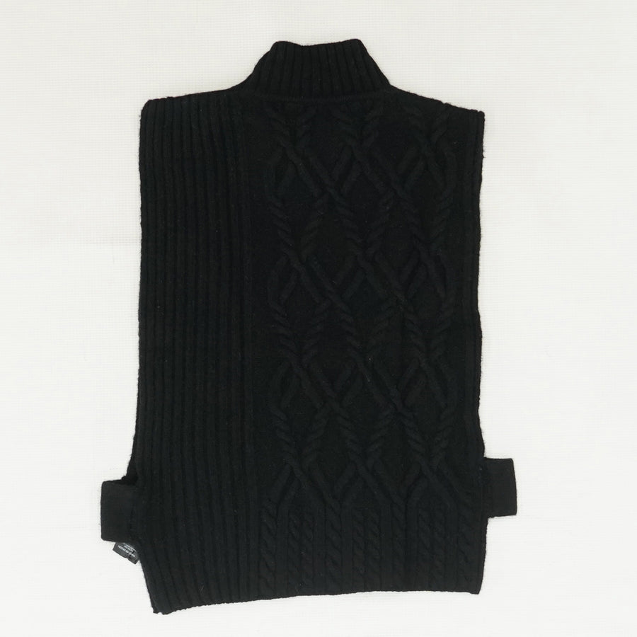 Black Sleeveless Turtleneck Sweater Size S, M
