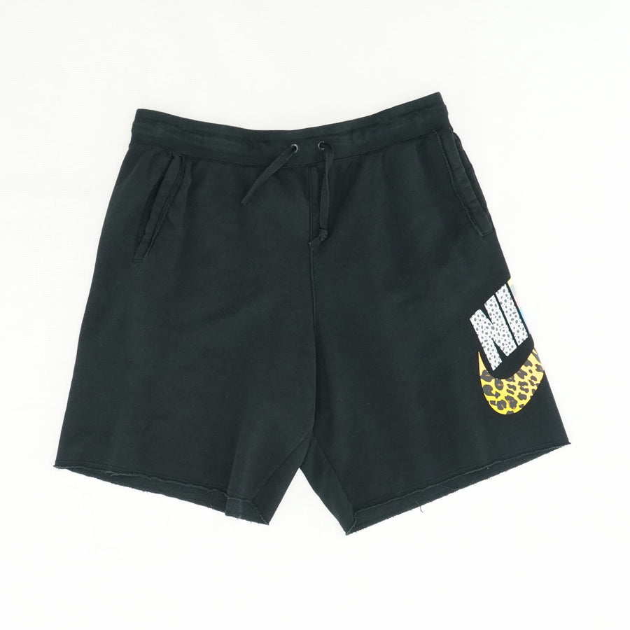 Sweatpant Material Shorts With Miscellaneous Pattern Logo Size XL