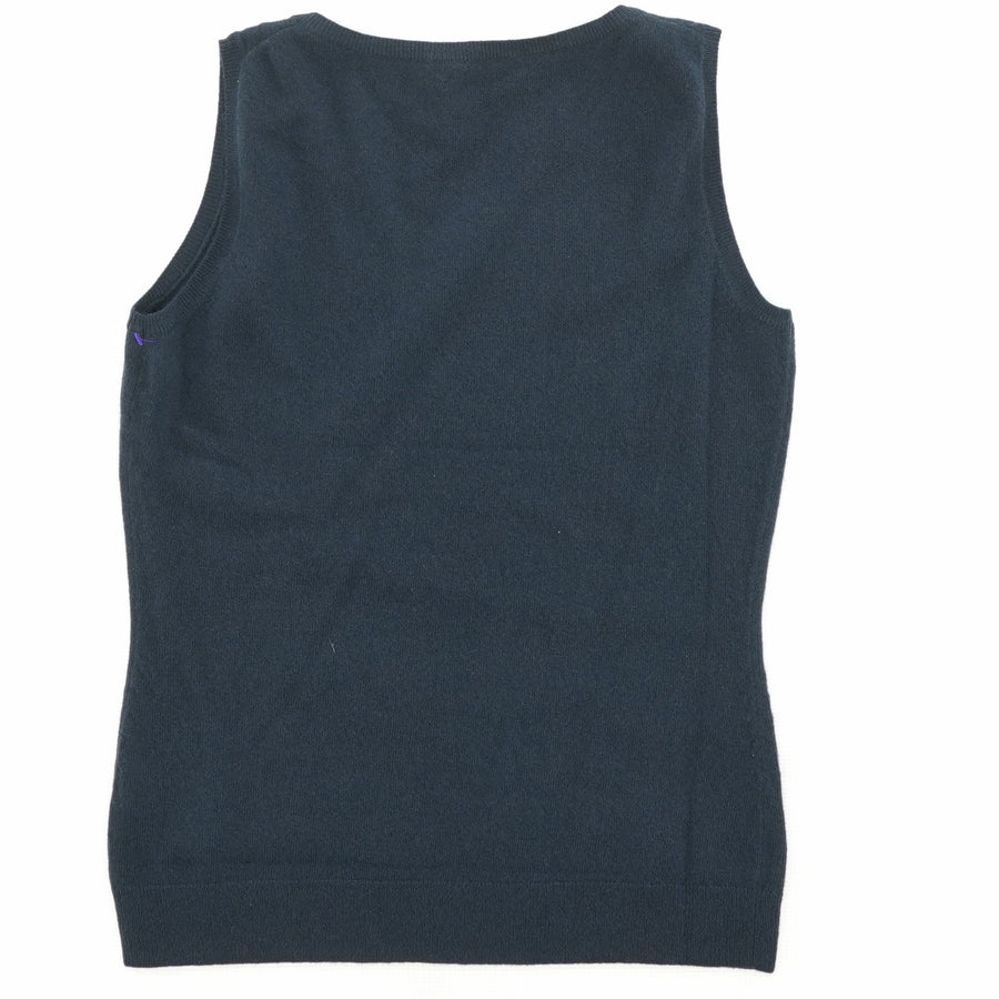 Navy Sleeveless Sweater Size M