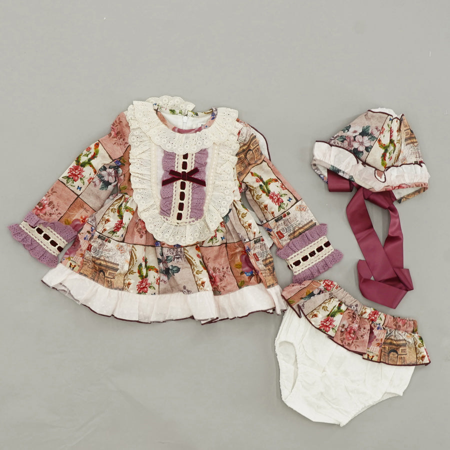 3 Piece Boutique Dress Set Size 9/12 Months