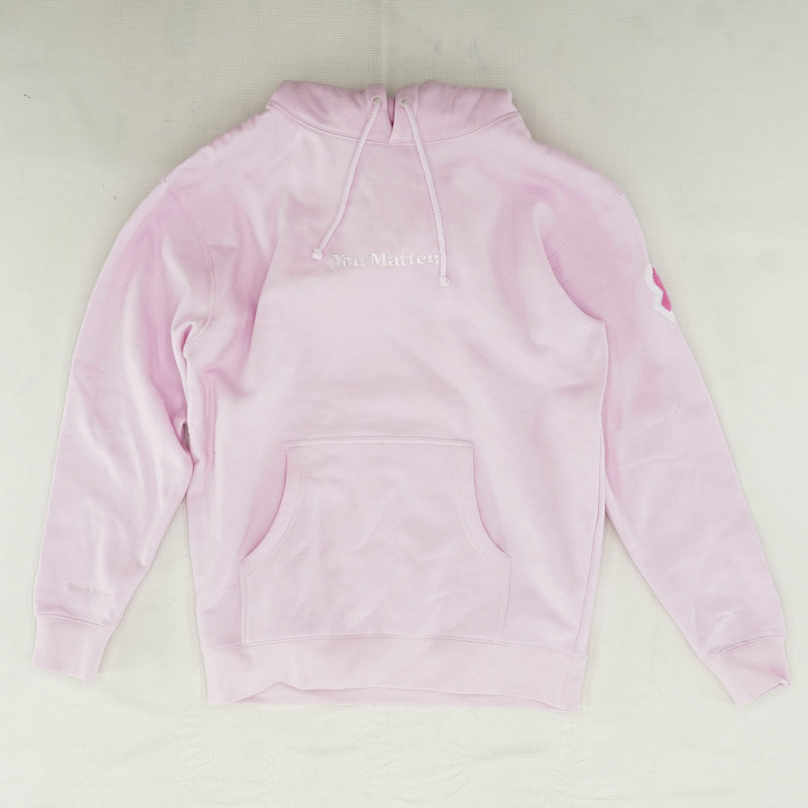 """You Matter"" Breast Cancer Hoodie Size L"
