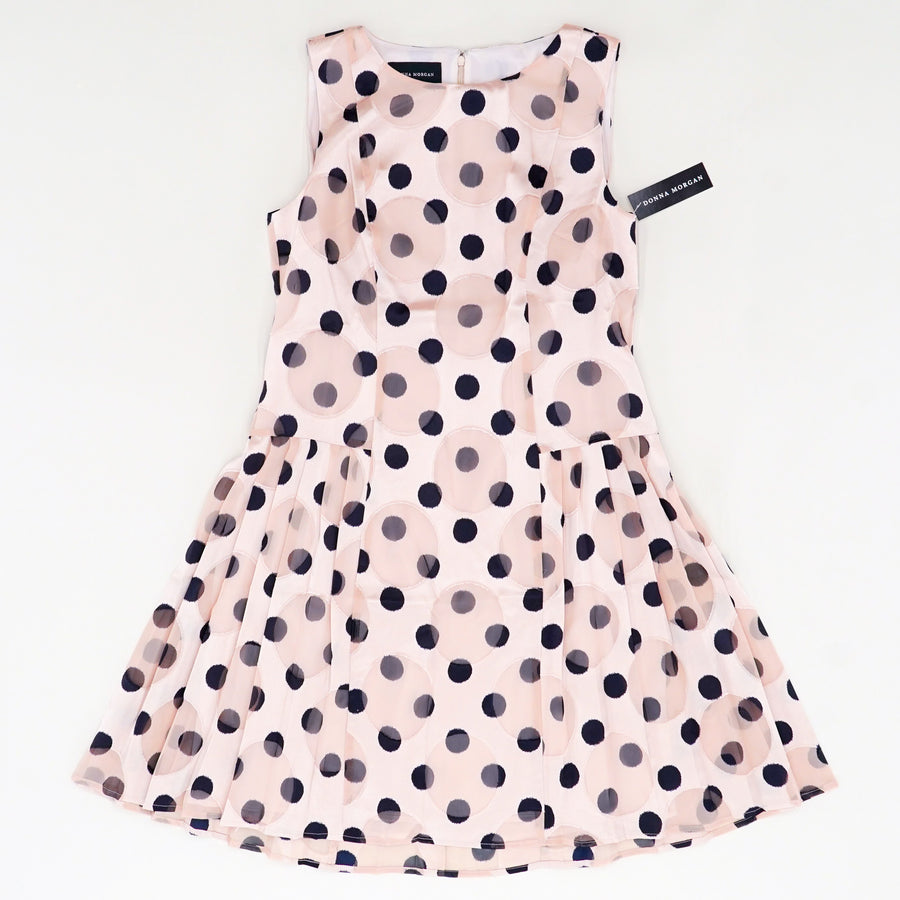 Sleeveless Burnout Polka Dot Dress Size 10