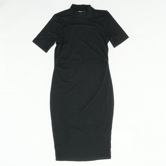 Ribbed Short Sleeve Dress Size M