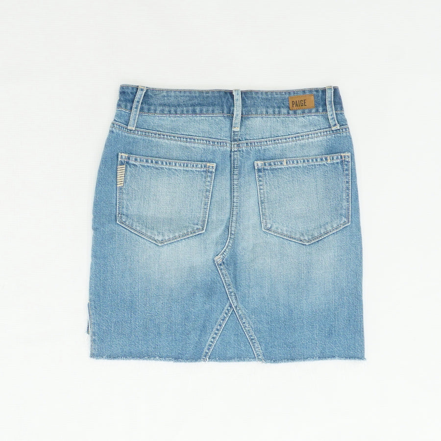 Aideen Fringed Jean Skirt Size 24 (0)