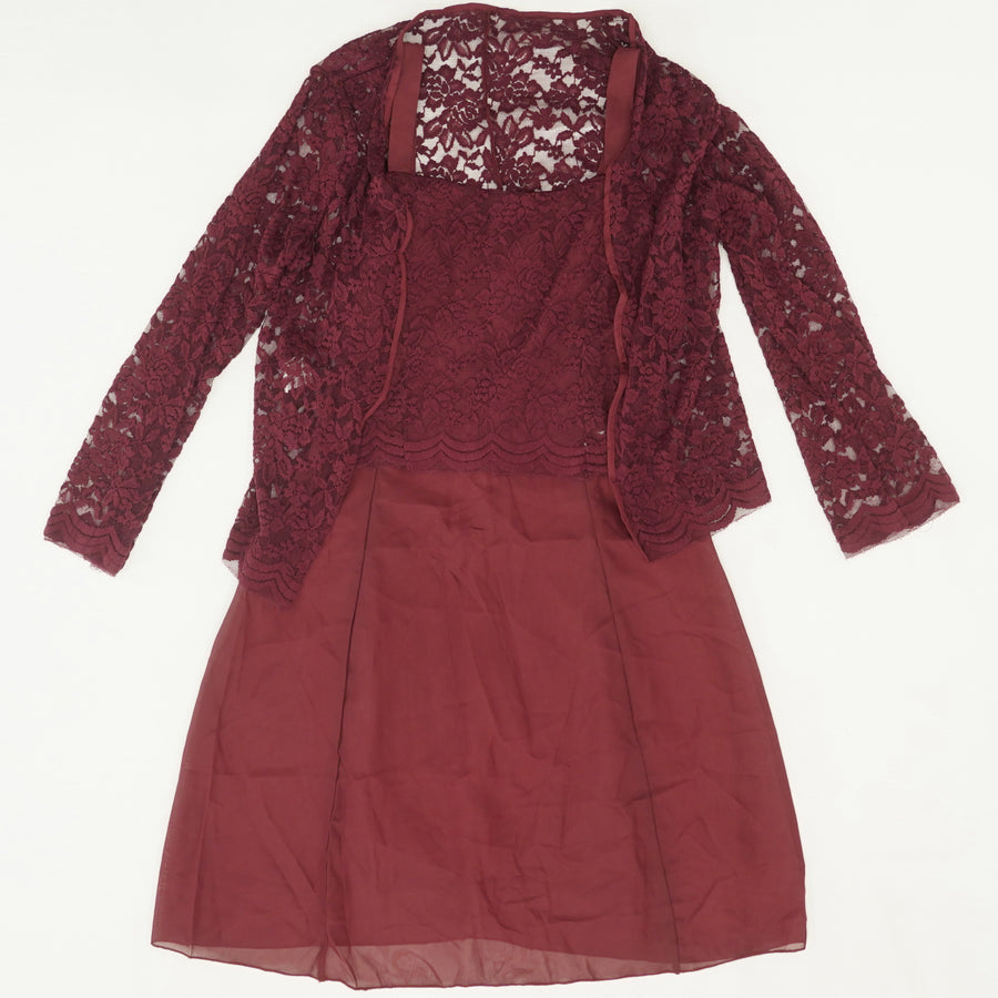 2 Piece Cardigan & Dress Size S