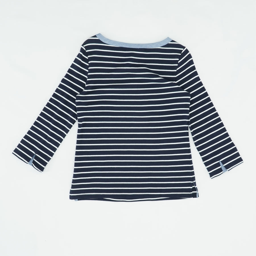 Striped Casual Blouse Size S
