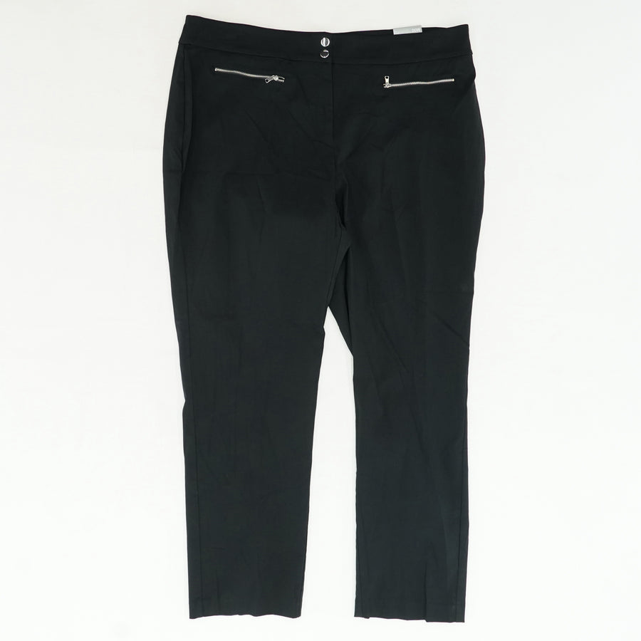Ebony Black Alfani Mill Slacks Size 20W
