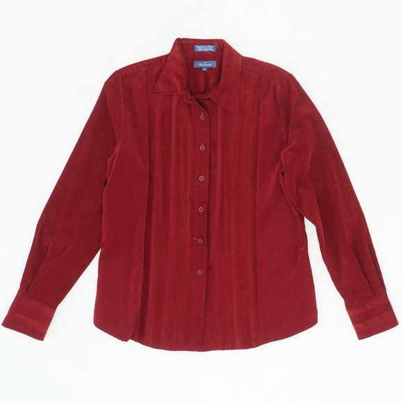 Cranberry Button Down Shirt Size M