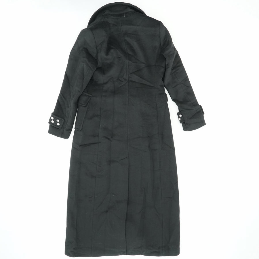 Button Detailed Collar And Sleeve Coat Size 12
