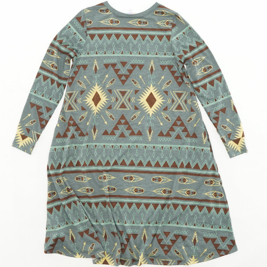 Tribal Print Casual Dress Size S