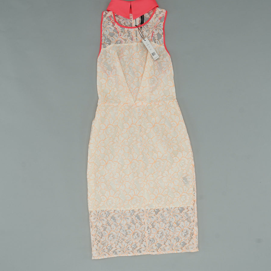 Lace Noah Collar Dress with Exposed Zipper Size XS