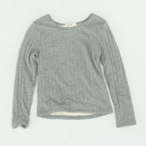 Fleece Lined Ribbed Sweater Size M