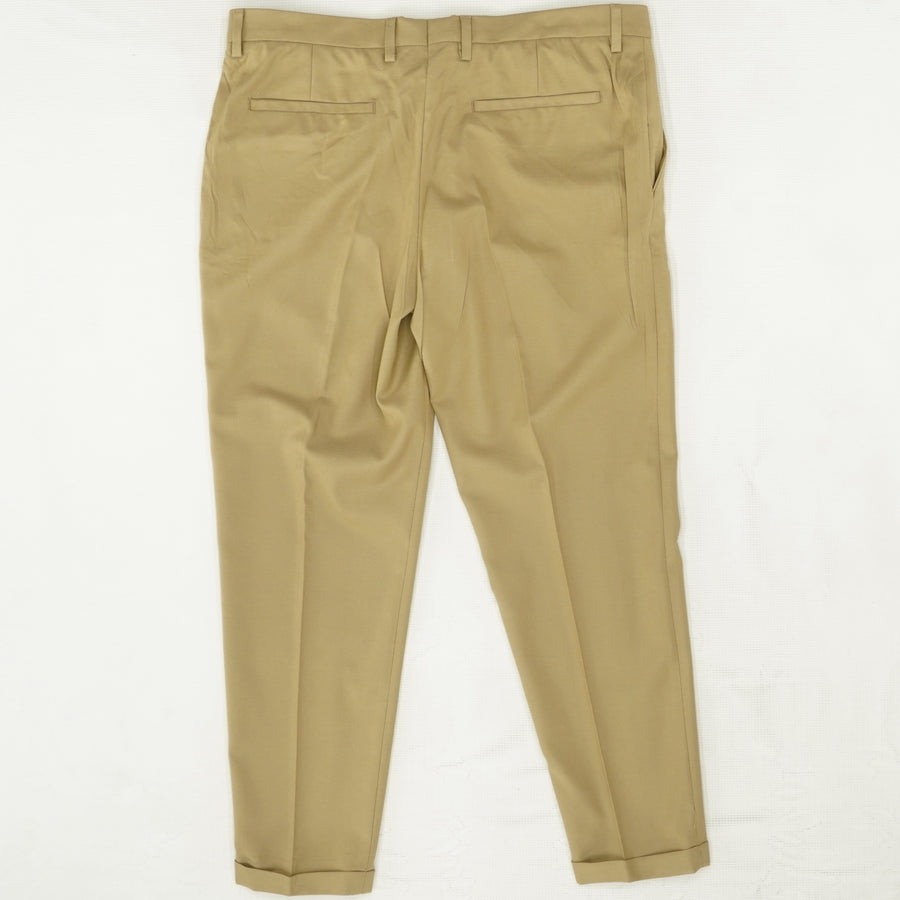 Khaki Textured Dress Pants Size 34W 27L
