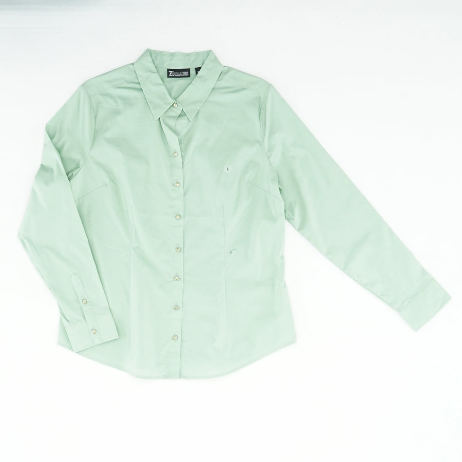 Jeweled-Button Blouse Size L